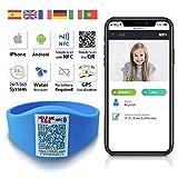 Armband mit QR GPS Technologie für Kinder und Erwachsene QR4G.com (himmelblau)