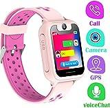 LDB Kinder Smartwatch, Smart Watch Phone LBS Tracker Mikro Chat Anruf SOS Kamera Taschenlampe Digitales Spiel Touchscreen SmartWatches, Smart Watch Geschenk für Kinder von 3 bis 12 Jahren