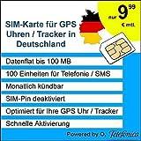 VIDIMENSIO SIM-Karte für GPS Uhr/GPS Tracker - NUR für Kunden mit Wohnsitz in DE - O2 Netz, 100 MB Daten, 100 Min/SMS inkludiert