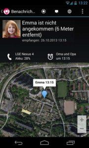 Ortungs-App Synagram
